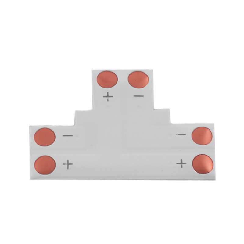 LED Strip Connector type T PCB 10mm 2 PINS