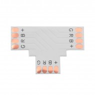 LED Strip Connector type T PCB 10mm 4 PINS