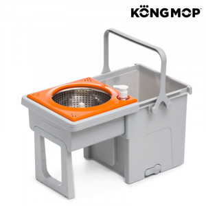 Σφουγγαρίστρα Περιστρεφόμενη και Συρόμενος Κουβάς Kong Mop Easy - Γκρι / Πορτοκαλί