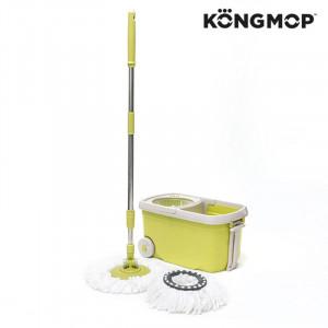 Σφουγγαρίστρα Περιστρεφόμενη και Κουβάς με Ροδάκια Kong Mop - Πράσινο