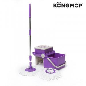 Σφουγγαρίστρα Περιστρεφόμενη και Πτυσσόμενος Κουβάς Kong Mop Spin Tastic - Μοβ