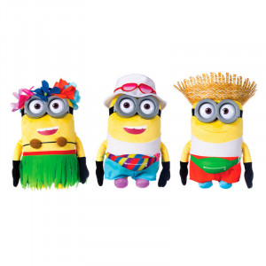 Λούτρινη Φιγούρα Despicable Me Minions Tourist Straw Hat 28cm