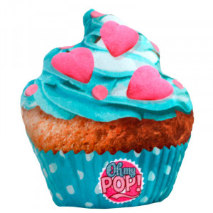 Μαξιλαράκι Μπλε Cupcake Oh My Pop KaracterMania