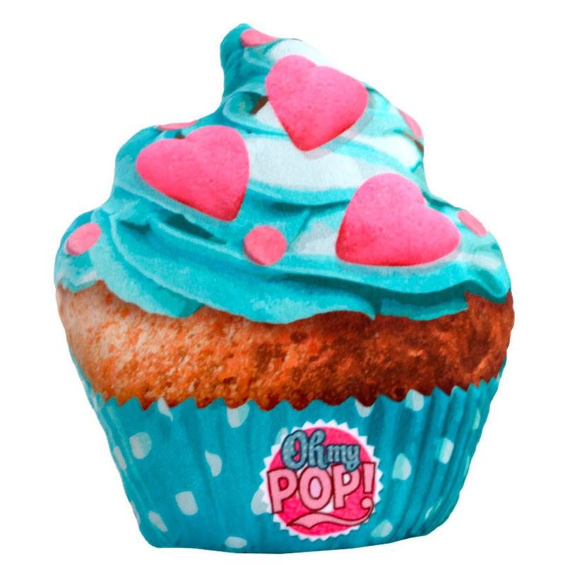 Μαξιλαράκι Μπλε Cupcake Oh My Pop KaracterMania