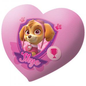 Μαξιλαράκι Βελούδινο Kids Licensing Paw Patrol Skye σε Σχήμα Καρδιάς 40cm