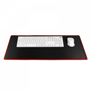 Mousepad Gaming 700x300x3mm - Μαύρο / Red Stitching