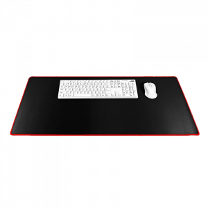 Mousepad Gaming 900x400x3mm - Μαύρο / Red Stitching