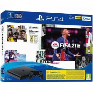 Sony PlayStation 4 Slim 500GB & FIFA 21 & FIFA 21 Voucher