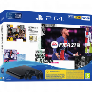Sony PlayStation 4 Slim 500GB & 2 x DualShock 4 & FIFA 21 & FIFA 21 Voucher