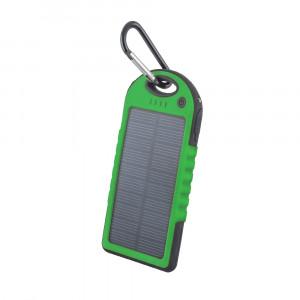 Powerbank 5000mAh Setty solar Power με Ηλιακό Panel - Πράσινο