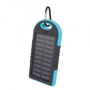 Powerbank 5000mAh Setty solar Power με Ηλιακό Panel - Μπλε