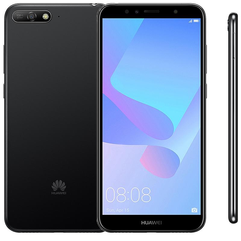 Huawei Y6 (2018) Τετραπύρηνο Snapdragon 425 1.4GHz 2GB RAM 16GB ROM - Μαύρο