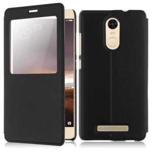 Θήκη Flip με πορτάκι για Xiaomi Redmi Note 3 και Xiaomi Redmi Note 3 PRO - Μαύρο