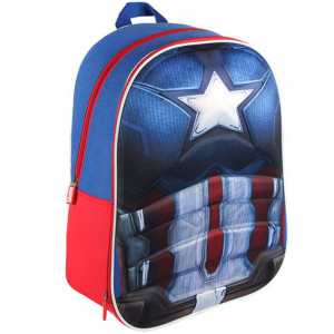 Σχολική Τσάντα Backpack Cerda Marvel Captain America 3D EVA