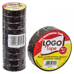 Μονωτική Ταινία LOGO 19mm x 18.3m - Μαύρο