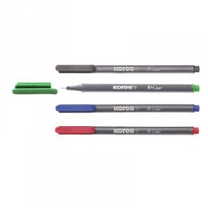 Μαρκαδόρος Γραφής Kores K-Liner 0.4mm Fineliner - Κόκκινο