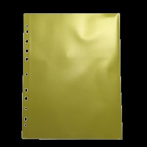 Θήκη Διαφανής Databank 11 Τρύπες 300MIC με Άνοιγμα Επάνω - Κίτρινο