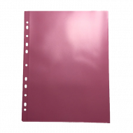 Θήκη Διαφανής Databank 11 Τρύπες 300MIC με Άνοιγμα Επάνω - Κόκκινο