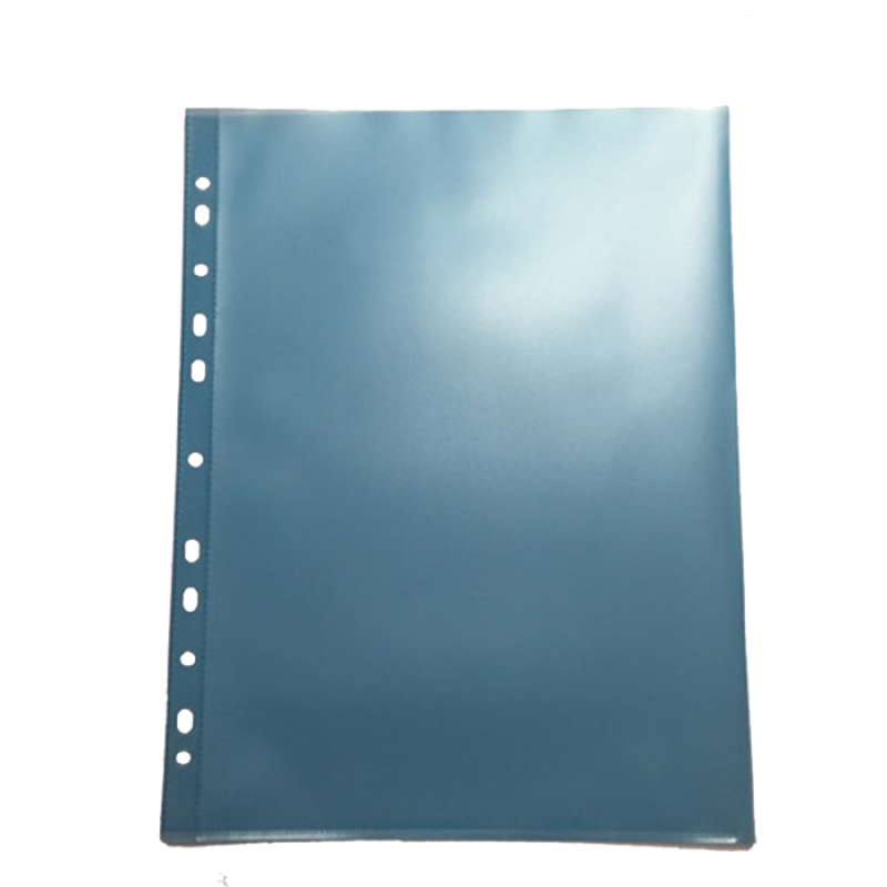 Θήκη Διαφανής Databank 11 Τρύπες 300MIC με Άνοιγμα Επάνω - Μπλε