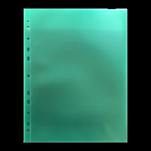 Θήκη Διαφανής Databank 11 Τρύπες 300MIC με Άνοιγμα Επάνω - Πράσινο