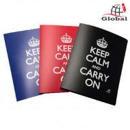 Ντοσιέ με 2 Κρίκους Global Keep Calm - Μπλε