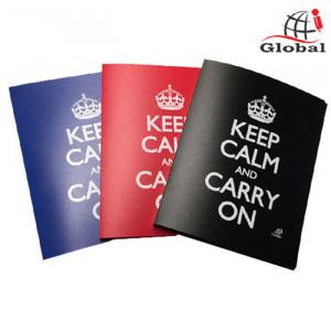 Ντοσιέ με 2 Κρίκους Global Keep Calm - Μαύρο