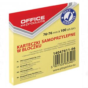 Αυτοκόλλητα Χαρτάκια Office Products 76 x 76 mm - Κίτρινο