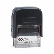 Σφραγίδα COLOP C10 - Μαύρο/Διάφανο