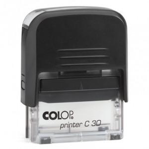 Σφραγίδα COLOP C30 - Μαύρο/Διάφανο