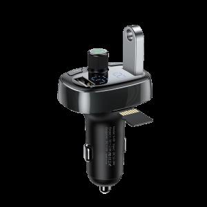 Φορτιστής Αυτοκινήτου Bluetooth FM Αναμεταδότης Baseus S-09 T-Type