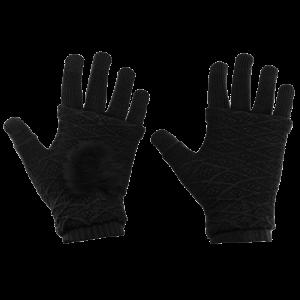 Γάντια για Οθόνη Αφής και Γάντια Χωρίς Δάκτυλα 2 σε 1 - Μαύρο