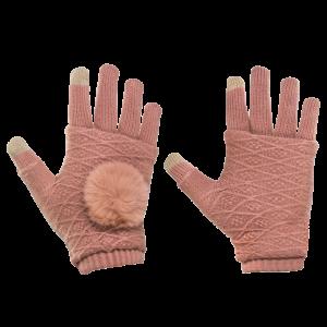 Γάντια για Οθόνη Αφής και Γάντια Χωρίς Δάκτυλα 2 σε 1 - Ροζ
