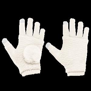 Γάντια για Οθόνη Αφής και Γάντια Χωρίς Δάκτυλα 2 σε 1 - Άσπρο