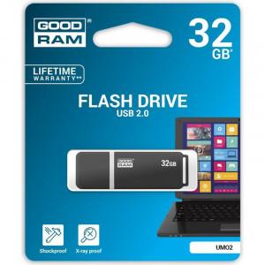 Στικάκι USB GOODRAM UMO2 32GB USB 2.0 - Μαύρο