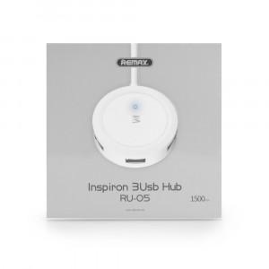 USB Hub REMAX 3xUSB Inspiron series RU-05 - Άσπρο