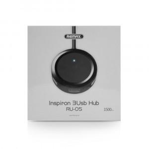 USB Hub REMAX 3xUSB Inspiron series RU-05 - Μαύρο