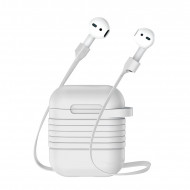 Θήκη με Μαγνητικό Strap Baseus για Apple AirPods - Γκρι