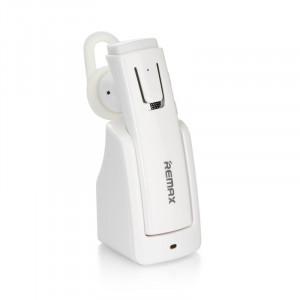 Ακουστικό Bluetooth Remax RB-T6C με Βάση Φόρτισης - Άσπρο