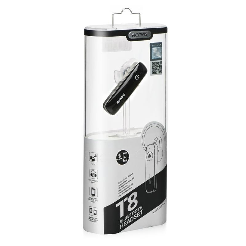 Ακουστικό Bluetooth Remax RB-T8 - Μαύρο
