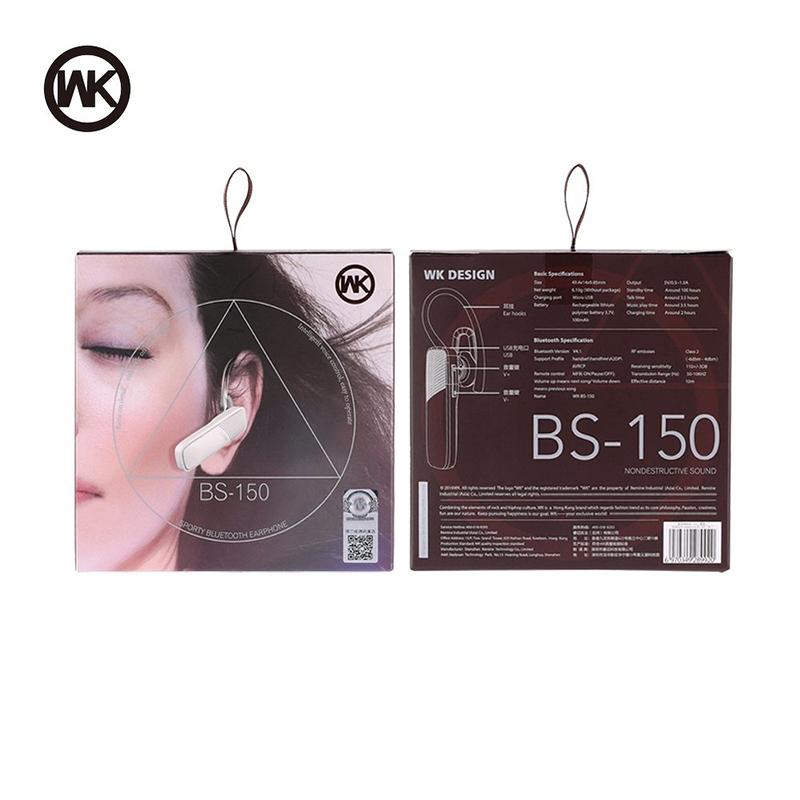Ακουστικό Bluetooth WK-Design BS150 - Μαύρο