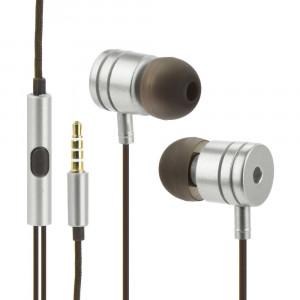 Handsfree OEM Stereo Ακουστικά Universal με Ρυθμιστή (EN50332-2) - Ασημί