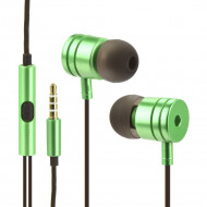 Handsfree OEM Stereo Ακουστικά Universal με Ρυθμιστή (EN50332-2) - Πράσινο