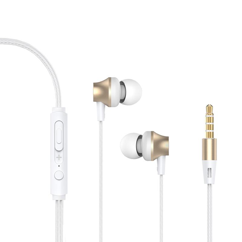 Handsfree Ακουστικά DEVIA Metal - Χρυσό