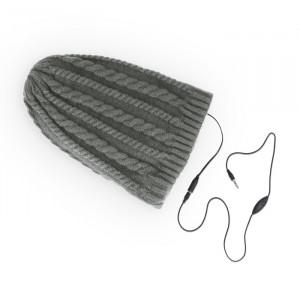 Headphones Forever Σκούφος με Ενσωματωμένα Ακουστικά Braids - Γκρι