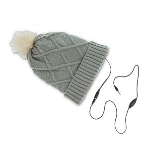 Headphones Forever Σκούφος με Ενσωματωμένα Ακουστικά Diamond - Γκρι
