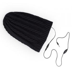 Headphones Forever Σκούφος με Ενσωματωμένα Ακουστικά Braids - Μαύρο