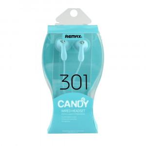 Handsfree Ακουστικά REMAX RM-301 Candy - Μπλε