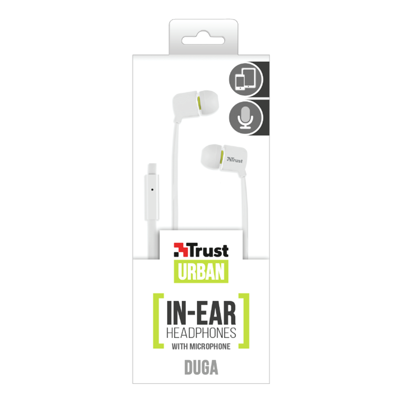 Handsfree Ακουστικά Trust Duga - Άσπρο