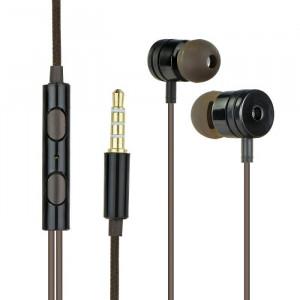 Handsfree OEM Stereo Ακουστικά Universal με Ρυθμιστή (EN50332-2) - Μαύρο