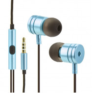 Handsfree OEM Stereo Ακουστικά Universal με Ρυθμιστή (EN50332-2) - Μπλε
